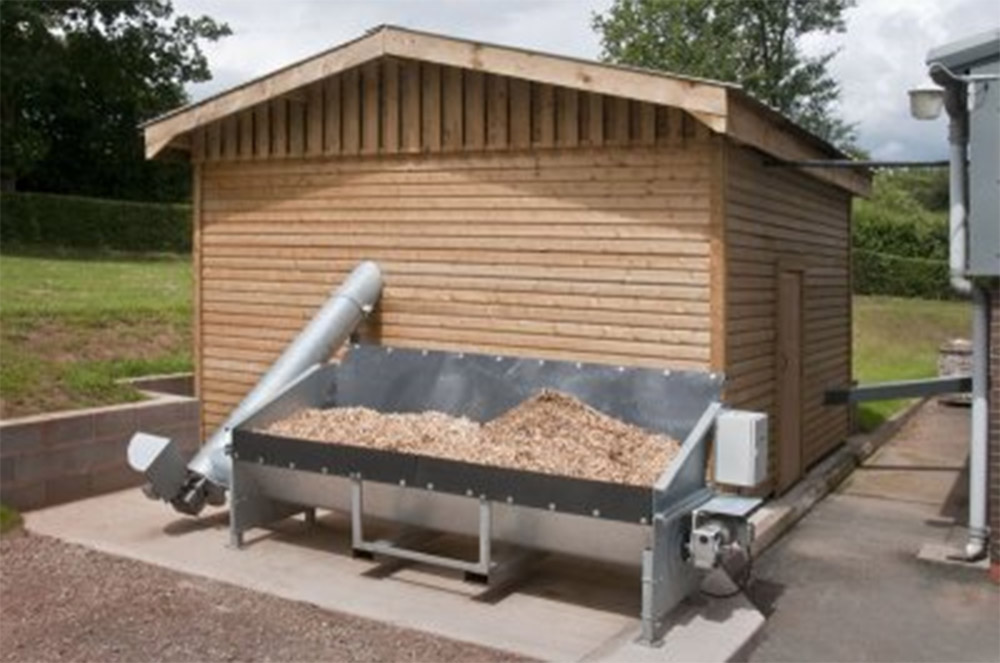 Blown Wood Chip Green Forest Renewables